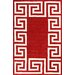 nuLOOM Filigree Red/White Santorini Area Rug
