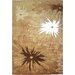 Cine Starburst Chic Brown Rug