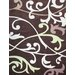 Cine Scrolling Vines Brown Rug