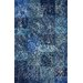 <strong>Hides Blue Patchwork Rug</strong> by nuLOOM