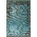 nuLOOM Ayers Turquoise Washed Damask Fringe Area Rug