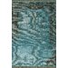 <strong>Ayers Turquoise Washed Damask Fringe Rug</strong> by nuLOOM