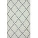 nuLOOM Flatweave Grey Drawn Trellis Area Rug