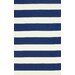 <strong>Serendipity Navy Alina Stripes Rug</strong> by nuLOOM