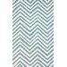 <strong>nuLOOM</strong> Veranda Light Blue Chevron Rug