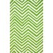 Veranda Green Chevron Rug