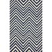 nuLOOM Flatweave Navy Blue Retro Chevron Area Rug