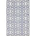 <strong>Flatweave Navy Locking Squares Rug</strong> by nuLOOM