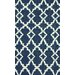 nuLOOM Flatweave Willow Navy Blue Area Rug