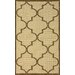 <strong>Villa Outdoor Taupe Double Trellis Rug</strong> by nuLOOM