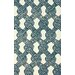 nuLOOM Goodwin White/Blue Sandra Area Rug
