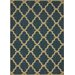 <strong>Villa Outdoor Blue Trellis Rug</strong> by nuLOOM