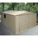 """<strong>10'5"""" W x 31'2"""" D Vinyl Garage Shed</strong> by Duramax Building Products"""