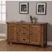 Brooklyn Three Drawer and Two Door Dresser in Rich Patina