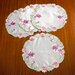 <strong>Seville Embroidered Vintage Lace Design Round Doilie (Set of 4)</strong> by Violet Linen