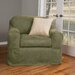Maytex Piped Faux Suede Separate Seat Chair Slipcover