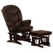 <strong>Soft Microfiber Two Post Multi Position Glider and Ottoman</strong> by Dutailier