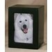 Medium Photo Pet Urn in Black Satin