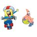 Spongebob Skaters Peel and Stick Giant Wall Decal