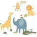 Room Mates Sapna Zoo Animals Giant Wall Decal