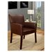 InRoom Designs Accent Leather Arm Chair