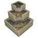 Cascadia Falls Electric Corner Fountain with LEDs