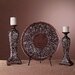 Minka Ambience Candlesticks with Charger Plate (Set of 3)