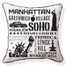 <strong>Naked Decor</strong> NYC Neighborhoods Pillow