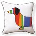 <strong>Naked Decor</strong> Dachshund Pillow