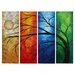 <strong>All My Walls</strong> 'In Living Color' by Megan Duncanson 4 Piece Original Painting on Metal Plaque