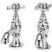 Elizabethan Classics Widespread Bathroom Faucet with Hot And Cold Cross Handle