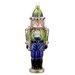 David Strand Glass Peacock Nutcracker Ornament