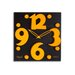 """<strong>12.8"""" Raised Figure Designer Wall Clock</strong> by Opal Luxury Time Products"""
