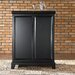 Newport Expandable Bar Cabinet in Black