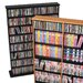 Double Width Wall Mounted Multimedia Storage Rack