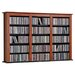 Prepac Floating Wall Mounted Triple Multimedia Storage Rack