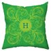 <strong>Checkerboard, Ltd</strong> Personalized Monogram Poly Cotton Outdoor Throw Pillow