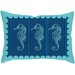 Checkerboard, Ltd Seahorses Poly Cotton Throw Pillow