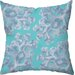<strong>Coral Polyester Outdoor Throw Pillow</strong> by Checkerboard, Ltd