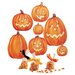 <strong>Wallies</strong> Jack O'Lanterns Vinyl Holiday Wall Mural (Set of 2)