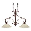 Monarch 2 Light Kitchen Island Pendant