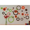 Alphabet Garden Designs Circles Dots and Flowers Wall Decal