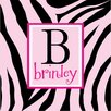 <strong>Alphabet Garden Designs</strong> Personalized Zebra Print Monogram Canvas Art