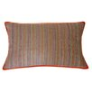 Jiti Desi Stripe Linen Hand Block Printed Embroidered Pillow