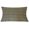 Jiti Zigs Linen Hand Block Printed Embroidered Pillow
