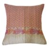 Jiti Paisley Linen Hand Block Printed Embroidered Pillow