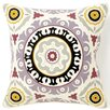 Suzani Henna Square Cotton Pillow