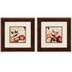 <strong>Propac Images</strong> Avian on Red 2 Piece Framed Graphic Art Set