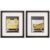 <strong>Propac Images</strong> Citron Bath 2 Piece Framed Graphic Art Set