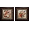 Propac Images Botanicals 2 Piece Framed Graphic Art Set